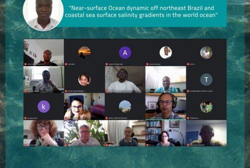 "Nathanael Dossa defende com sucesso sua tese de doutorado intitulada: ""Near-surface Ocean dynamic off northeast Brazil and coastal sea surface salinity gradients in the world ocean"""