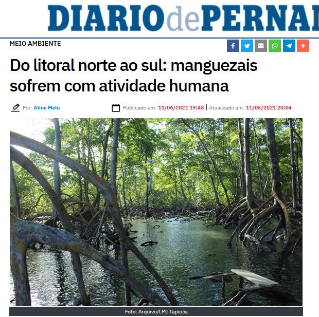 Uso da Terra Costeira no Nordeste do Brasil: Evolução da cobertura dos manguezais ao longo de três décadas