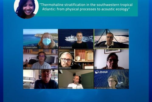 """Ramila Assunção defende sua tese: """"Thermohaline stratification in the southwestern tropical Atlantic: from physical processes to acoustic ecology"""""""
