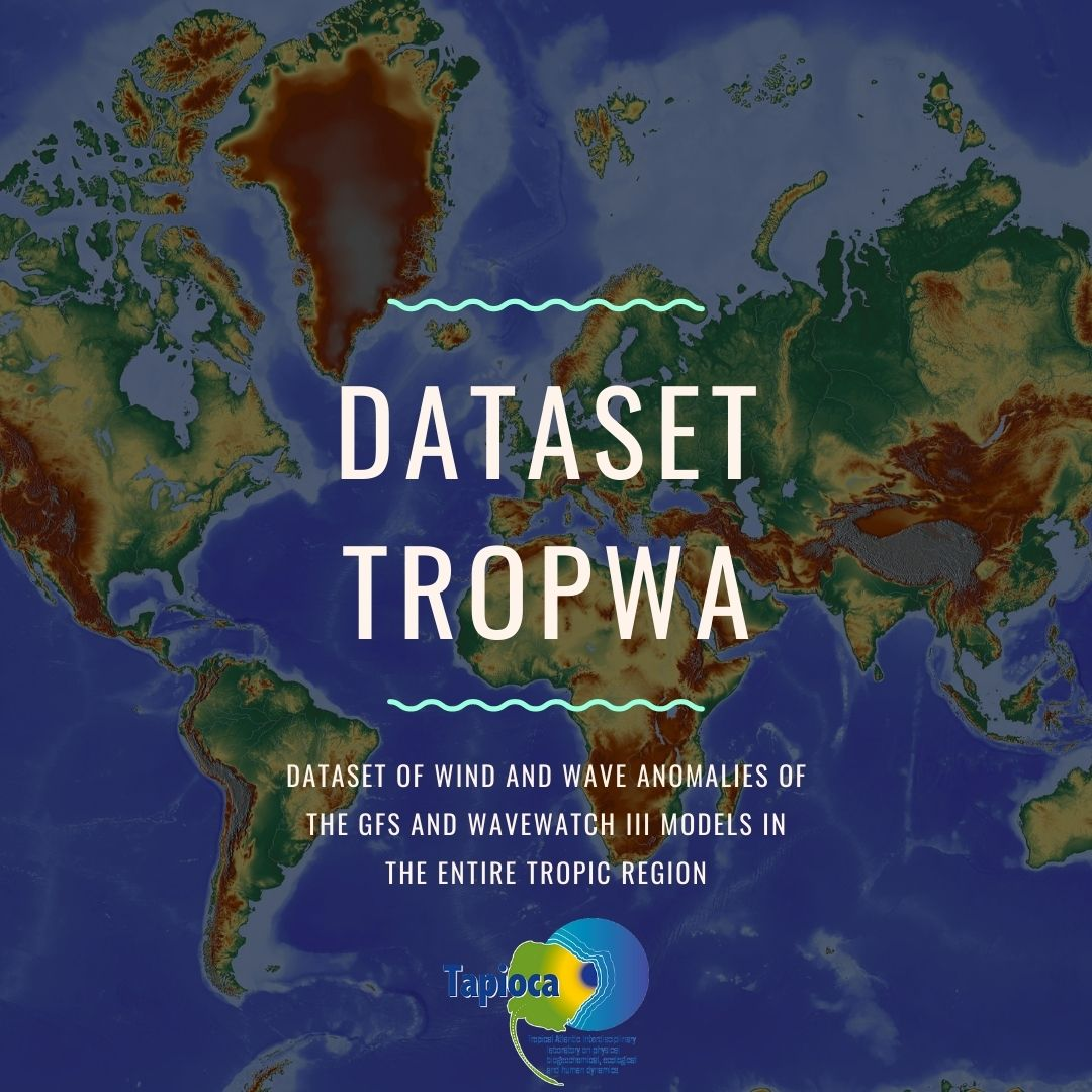 Tri-hourly dataset of wind and wave anomalies of the GFS and WAVEWATCH III models in the entire tropic region (TROPWA).