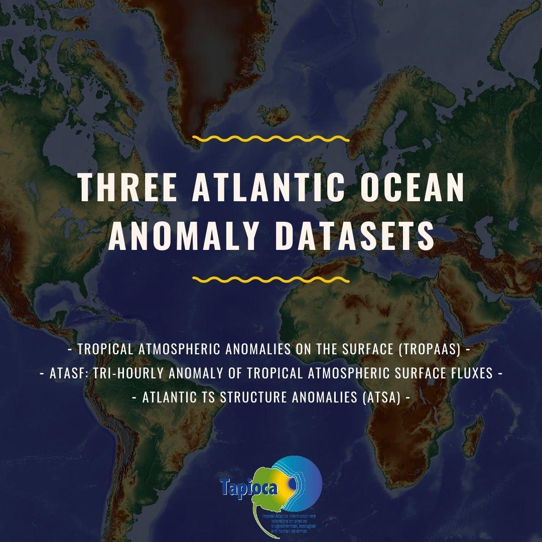 Three Atlantic Ocean Anomaly Datasets
